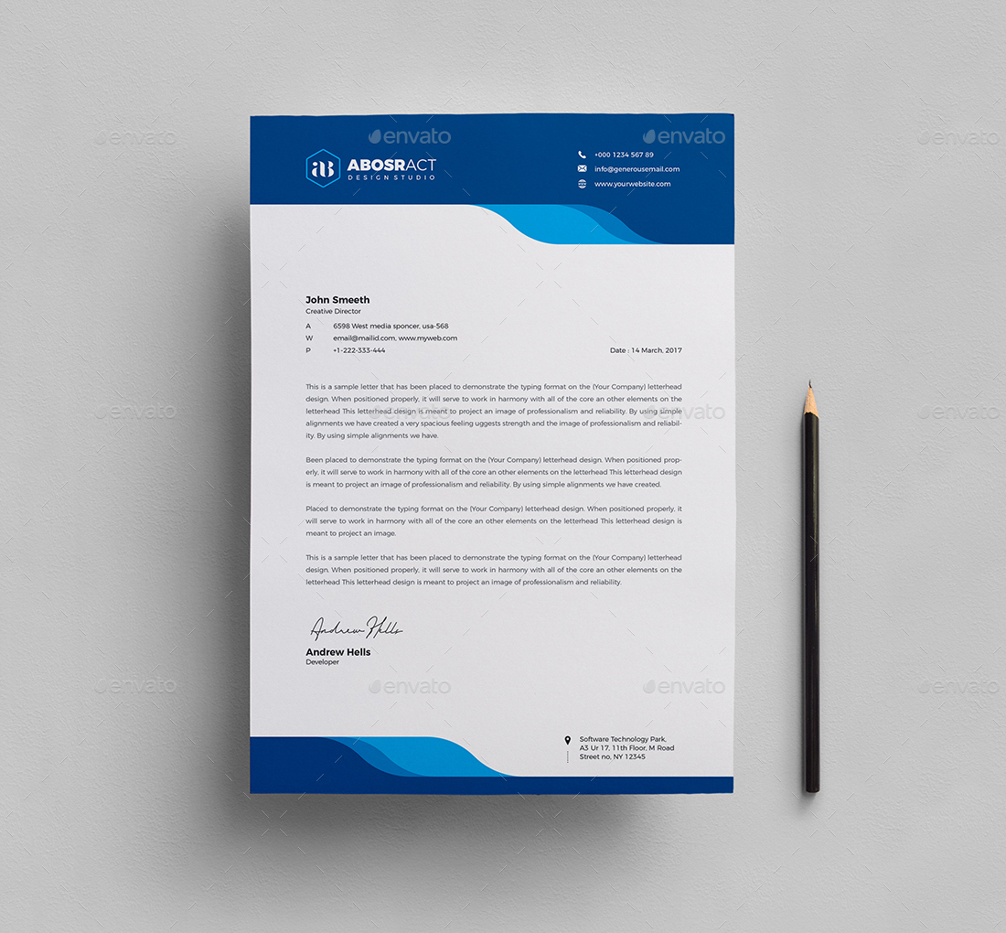 Letterhead by generousart graphicriver letterhead spiritdancerdesigns Image collections