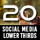 20 Social Media Lower Thirds - VideoHive Item for Sale
