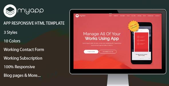MyApp – App Responsive HTML Template