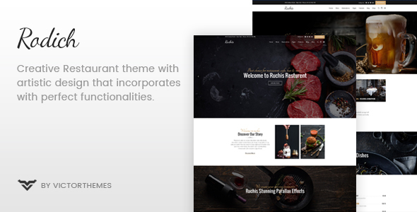 Rodich - A Restaurant WordPress Theme - Restaurants & Cafes Entertainment