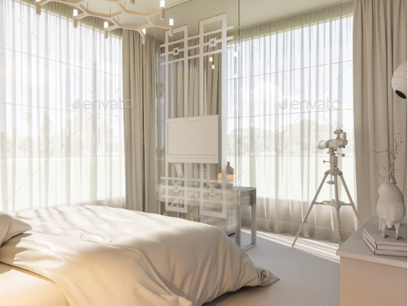 3D Render of an Interior Design of a Bedroom - Architecture 3D Renders