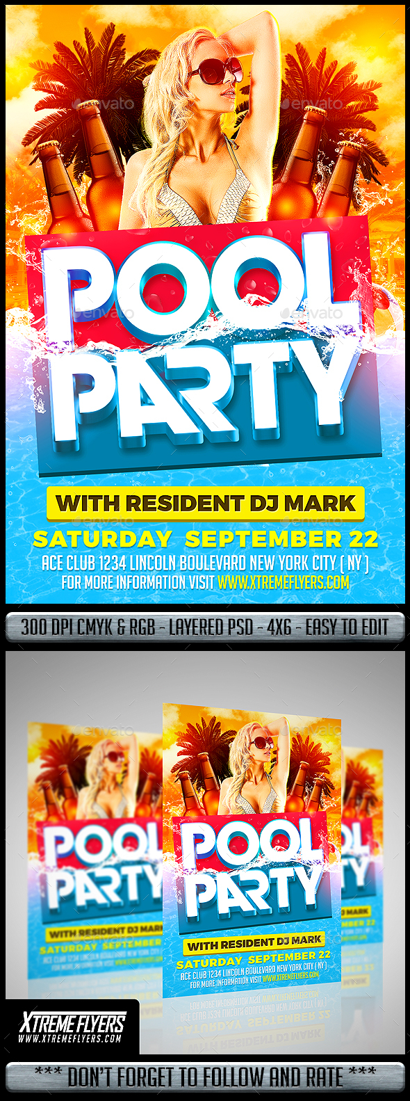 Pool Party Flyer - Clubs & Parties Events