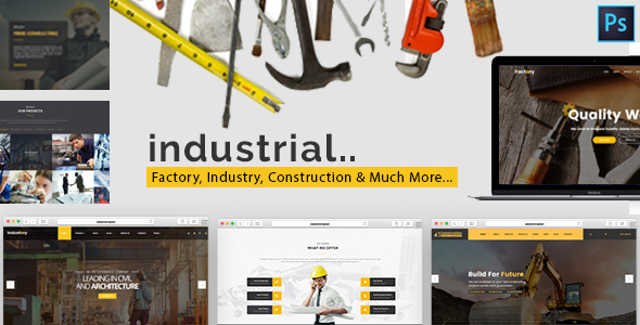 Industrial – Factory, Industry & Construction HTML Template