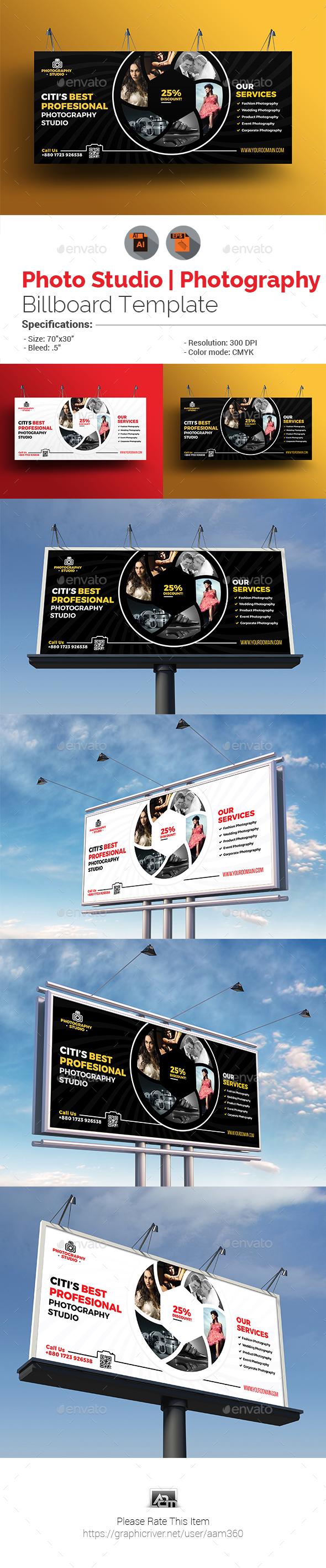 Photo Studio | Photography Billboard - Signage Print Templates
