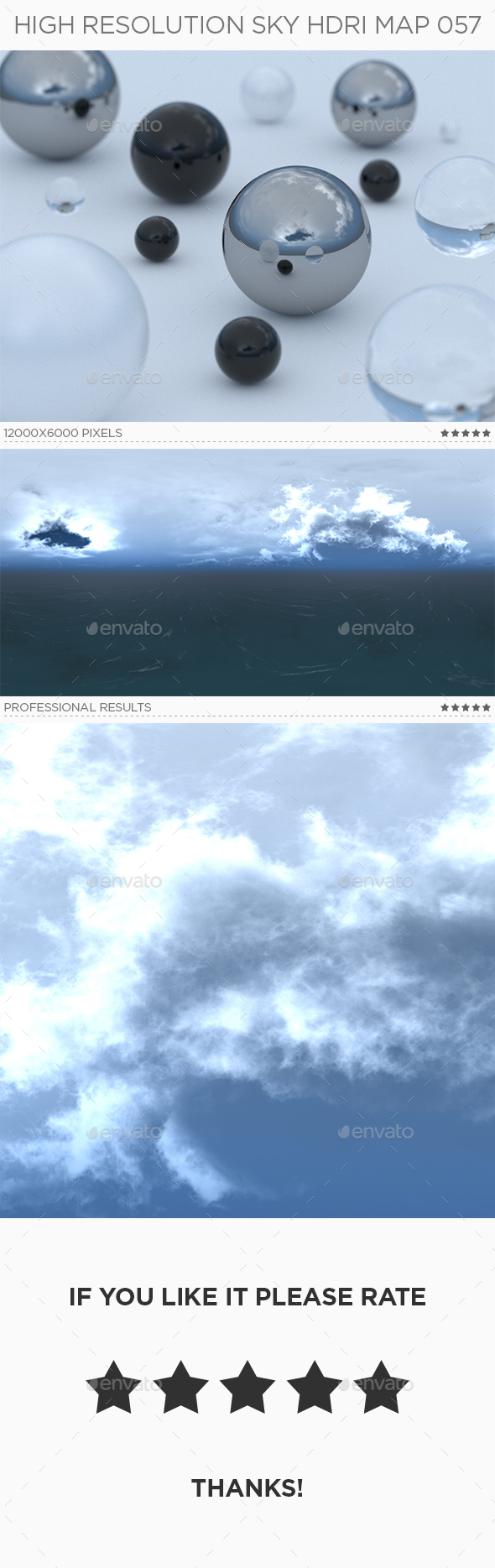 High Resolution Sky HDRi Map 057 - 3DOcean Item for Sale