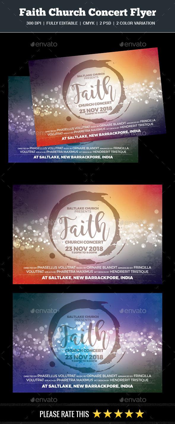 Faith Church Concert Flyer - Church Flyers