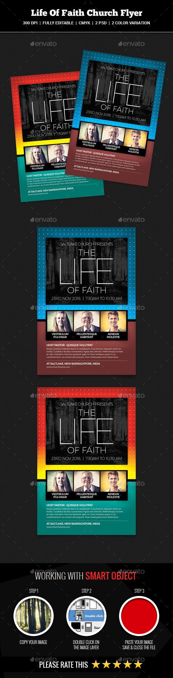 The Life Of Faith Church Flyer - Church Flyers