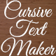 Cursive Text Maker