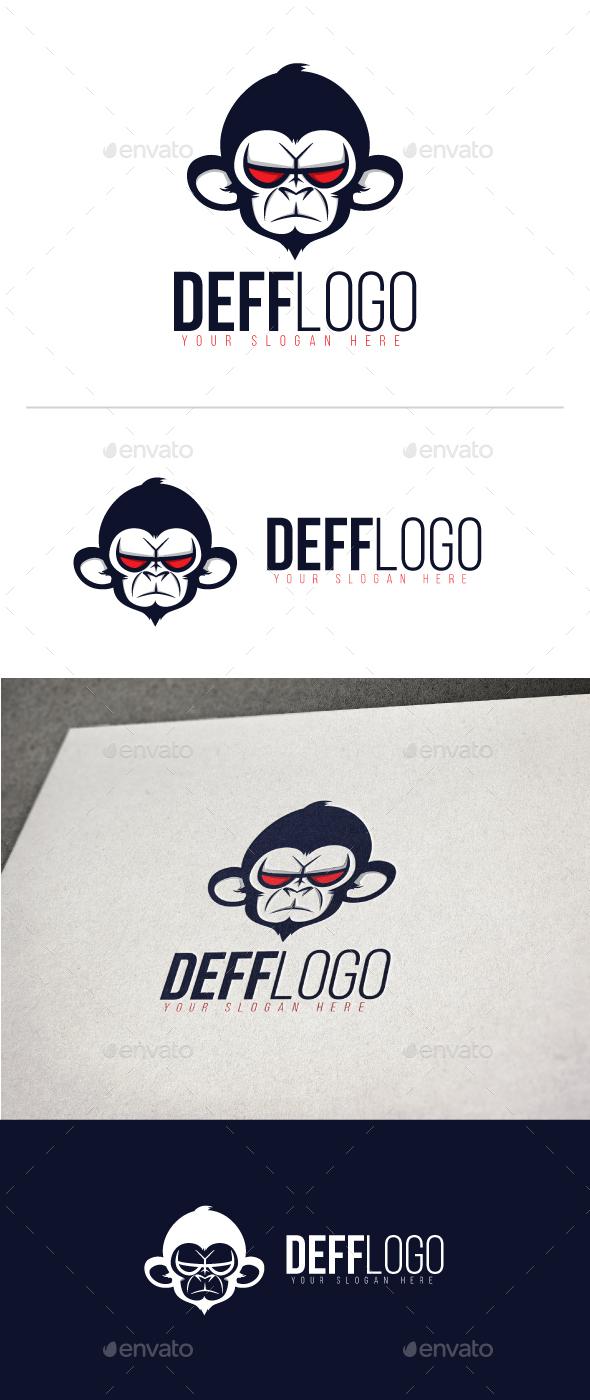 Angry Monkey Logo - Animals Logo Templates