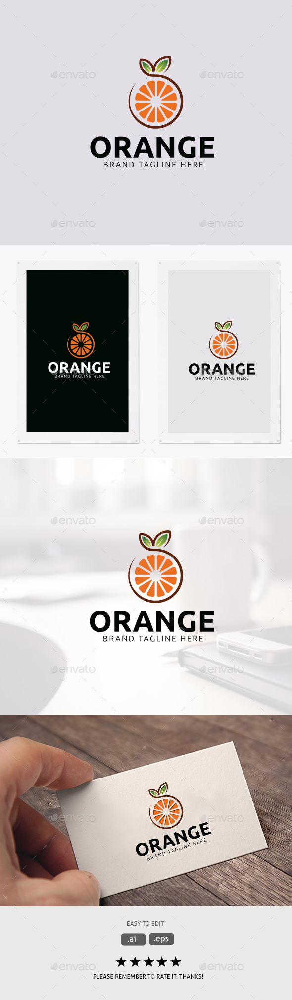 Orange Logo - Food Logo Templates