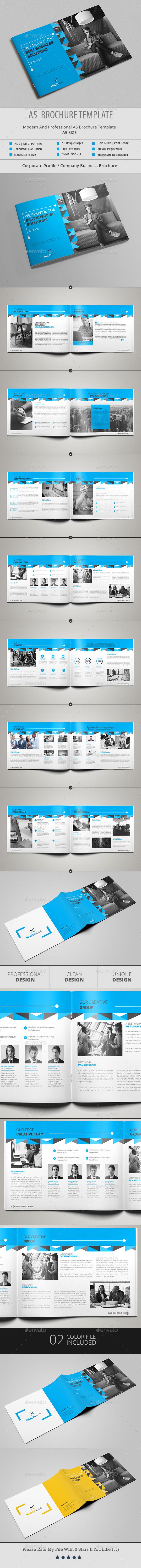 A5 Brochure Template - Corporate Brochures