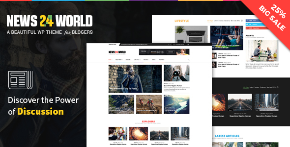 Blog Magazine Newspaper WordPress - Blog / Magazine WordPress