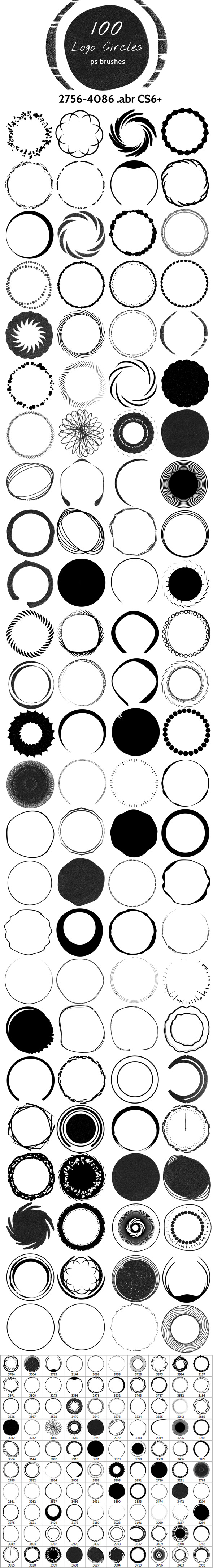 Logo Circles Brushes - Artistic Brushes