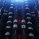 VJ Futuristic Tunnel of Pipes and Neon Lamps - VideoHive Item for Sale