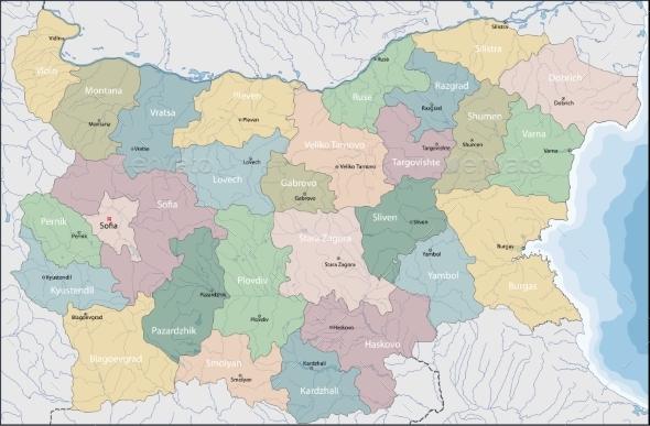 Map of Bulgaria - Miscellaneous Vectors