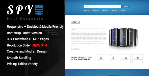 SPY – Hosting HTML5 Template