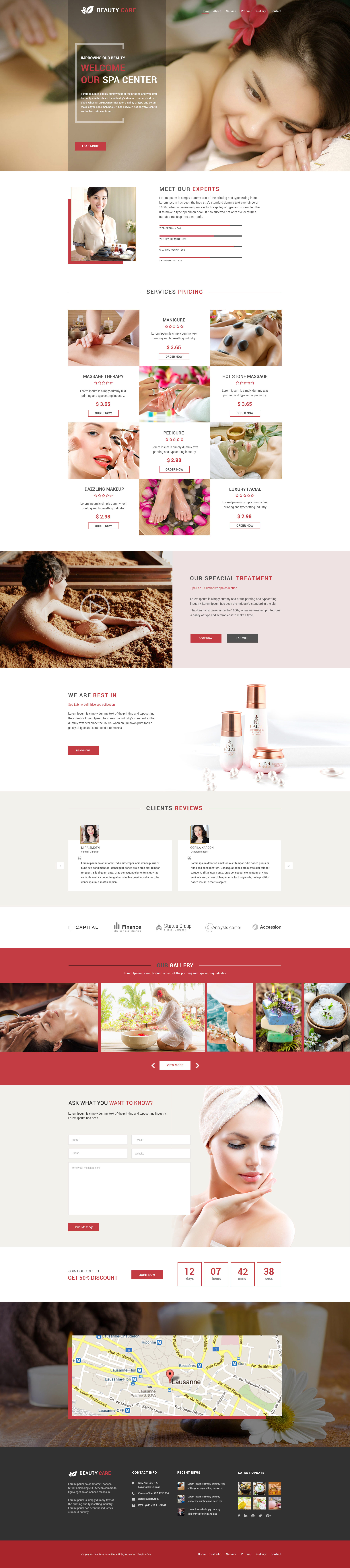 Spa Care Spa Salon Beauty Psd Template By Graphicscare