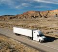 OTR Vehicle Transportation 18 Wheeler Big Rig White Semi Truck - PhotoDune Item for Sale