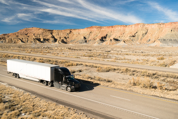 Over The Road Transportation 18 Wheeler Big Rig Semi Truck - Stock Photo - Images