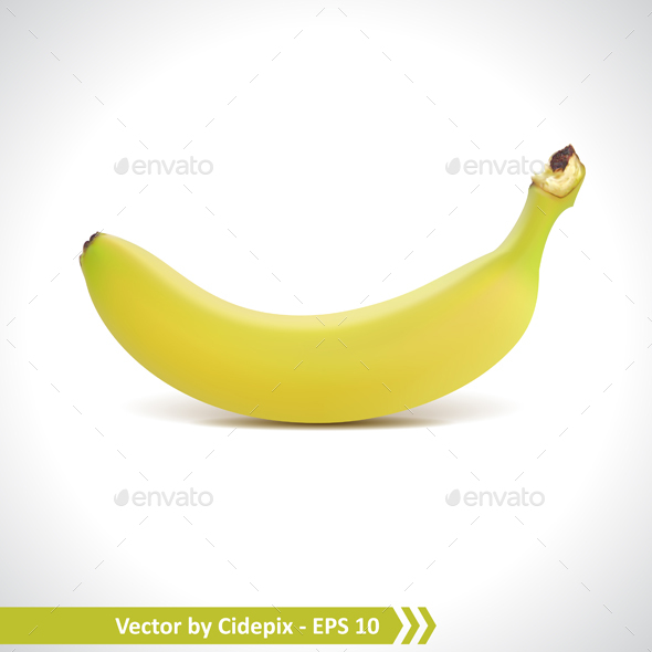 Fresh Banana Vector - Food Objects