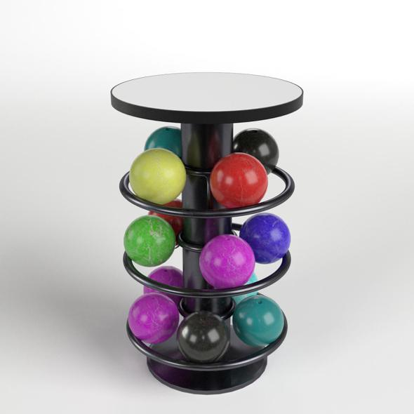 Bowling Table Rack 1 - 3DOcean Item for Sale