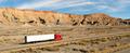 Semi Trailer Long Haul 18 Wheeler Big Rig Red Truck - PhotoDune Item for Sale