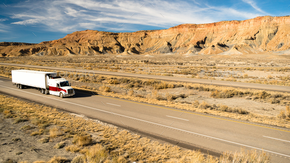 Over The Road Long Haul 18 Wheeler Big Rig Truck - Stock Photo - Images