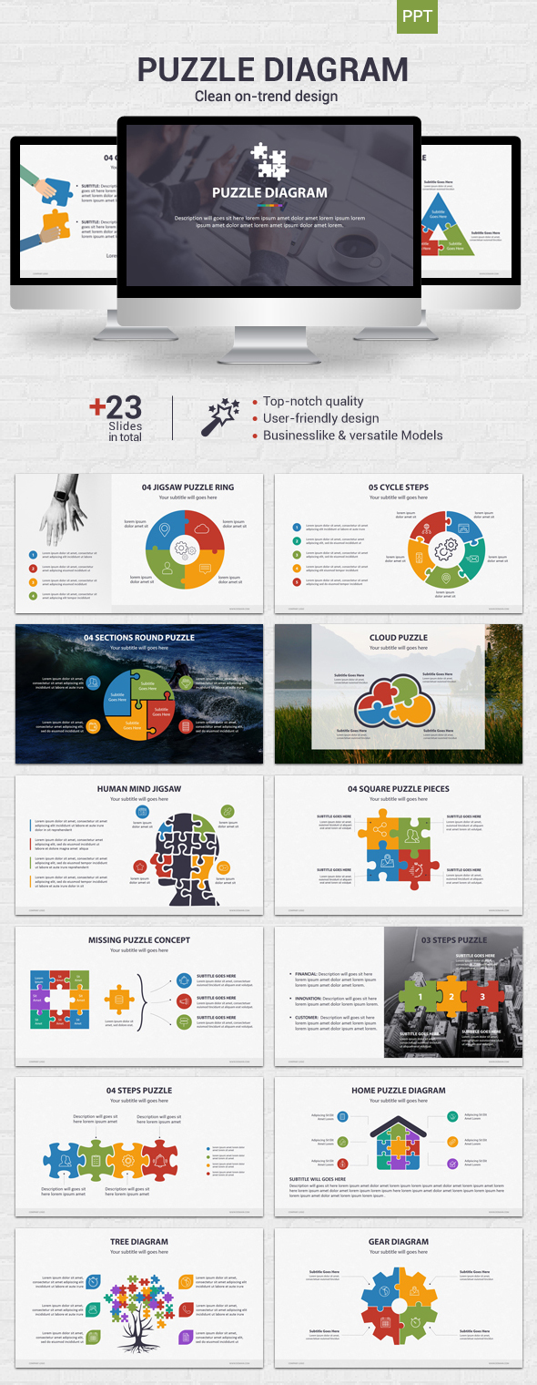 Puzzle Diagram - Powerpoint - Business PowerPoint Templates