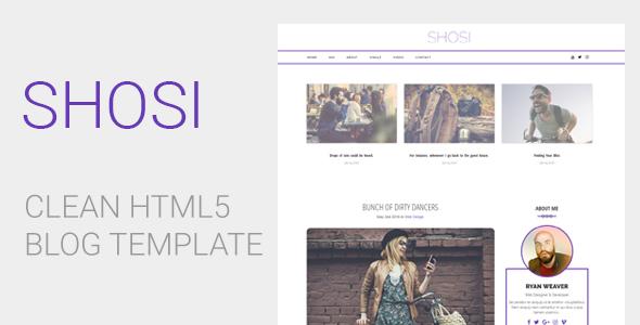 SHOSI - Clean HTML5 Blog Template
