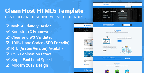 Cleanhost – Responsive Web hosting HTML5 Template