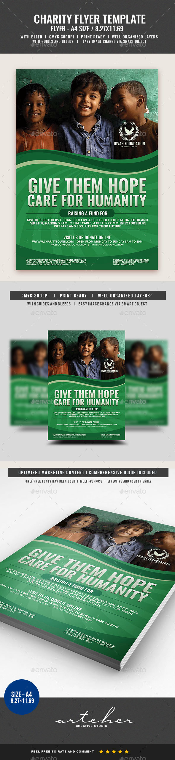 Charity Foundation Flyer - Flyers Print Templates