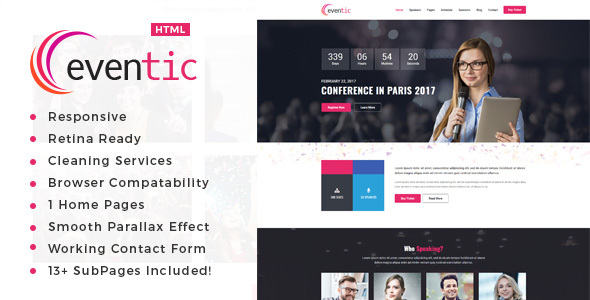 Eventic - Conference & Event HTML Template