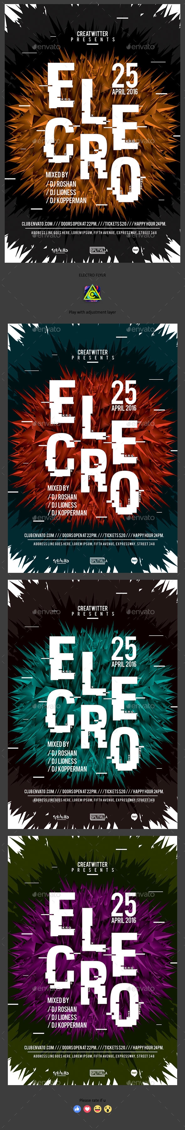 Electro Flyer - Clubs & Parties Events