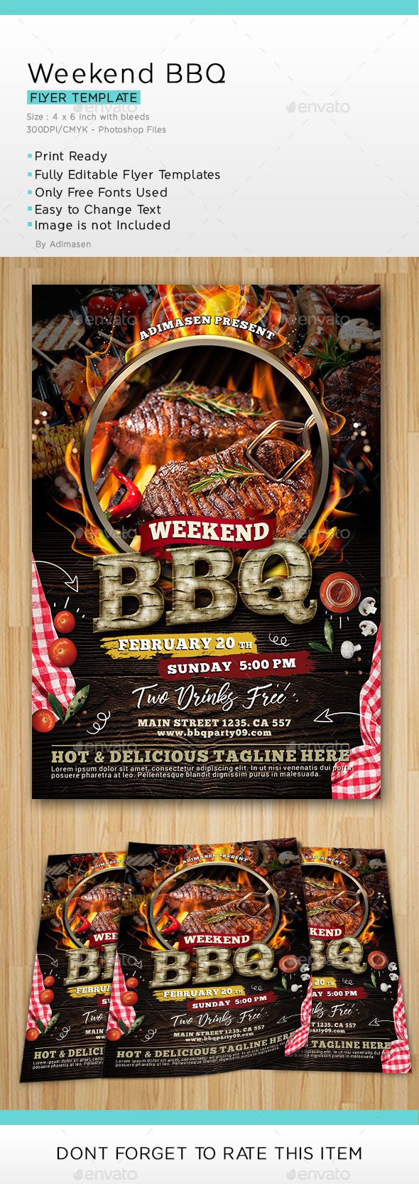 Weekend BBQ - Events Flyers