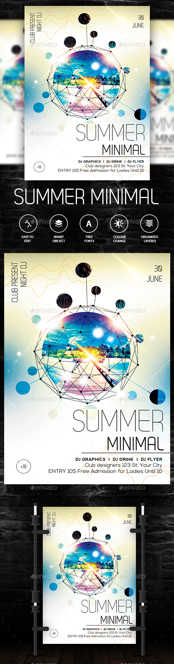 Summer Minimal Flyer - Clubs & Parties Events