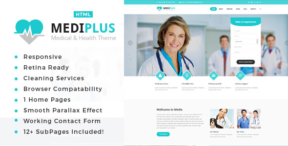 Mediplus – Health And Medical HTML Template