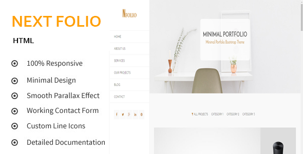 Next Folio – Creative and Minimal Portfolio HTML5 Template