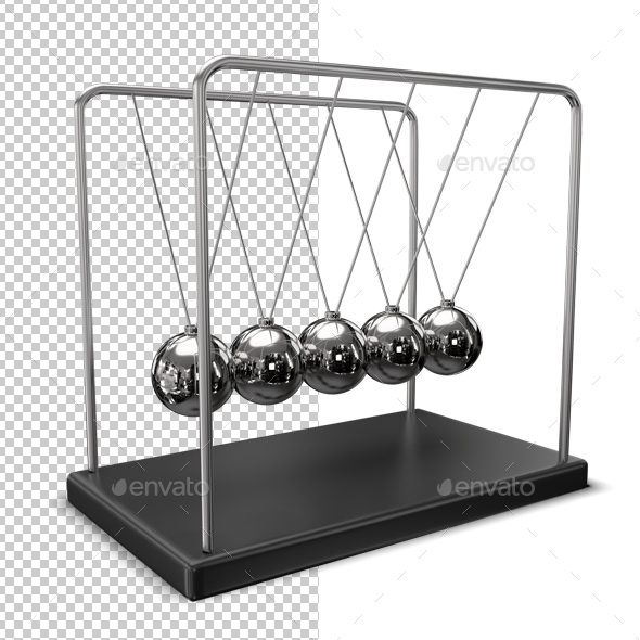 Newton's Cradle - Objects 3D Renders