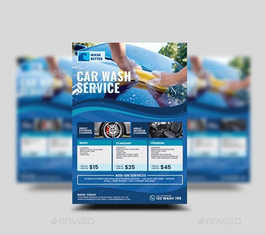 Car Wash Flyer By Artchery
