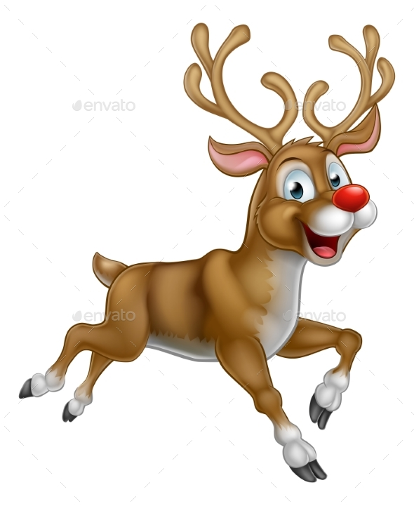 christmas cartoon reindeer by krisdog graphicriver