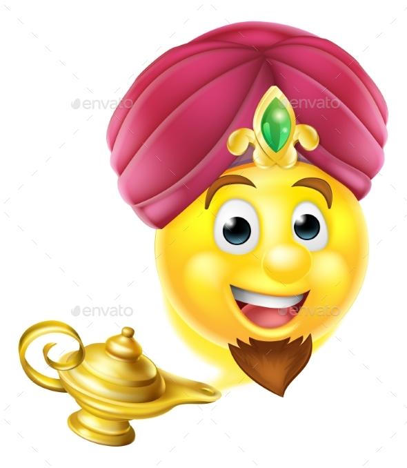 Genie Magic Lamp Emoji - Miscellaneous Vectors
