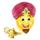 Genie Magic Lamp Emoji