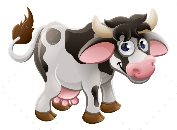 Cartoon Cow Farm Animal - Animals Characters