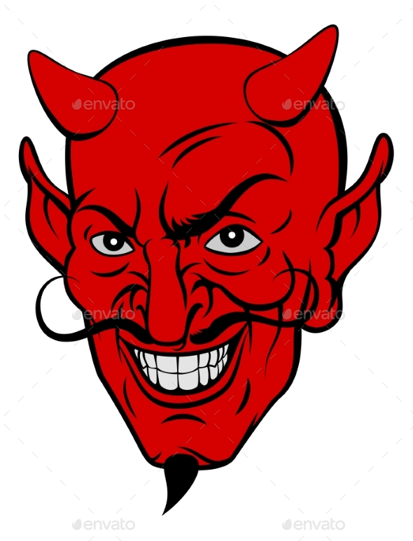 Devil Cartoon Face - Monsters Characters