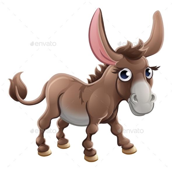 Cartoon Donkey Farm Animal - Animals Characters