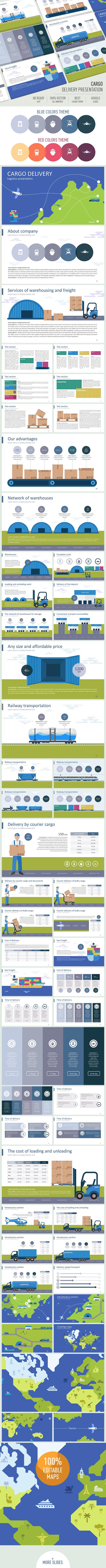 Cargo delivery Google slides - Google Slides Presentation Templates