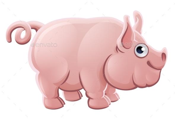 Cartoon Pig Farm Animal - Animals Characters