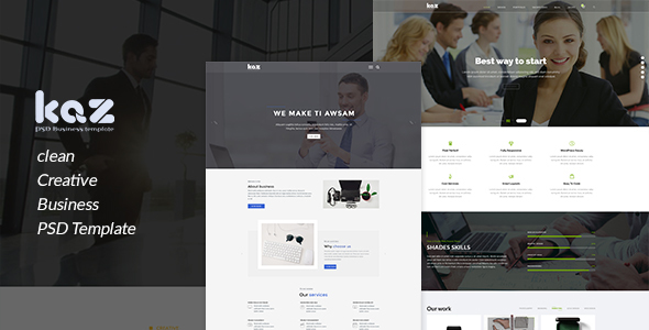 Kaz Business PSD Template