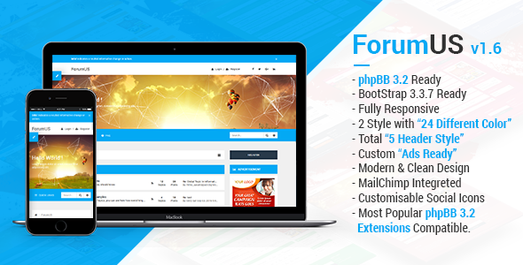 Download ForumUS | Responsive phpBB 3.1 & 3.2 Style / Theme nulled version