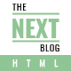 The Next Blog - Bloging HTML Template - ThemeForest Item for Sale